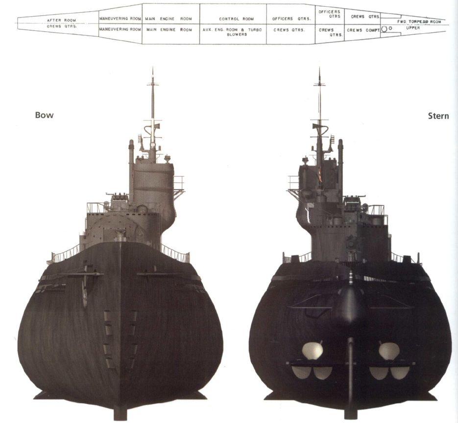 hight resolution of i 400 submarine diagram