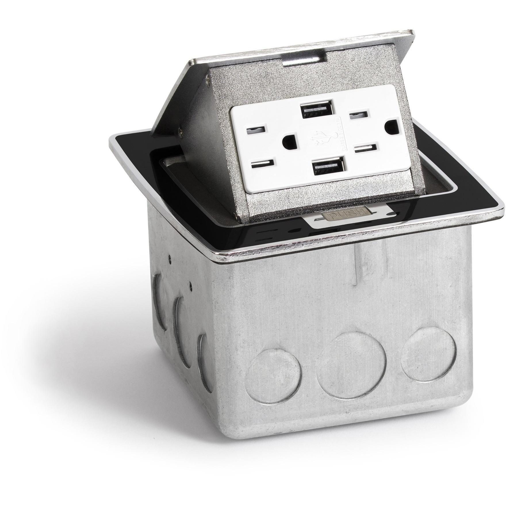 kitchen countertop pop up 20a charging usb power outlet black rh pinterest com au