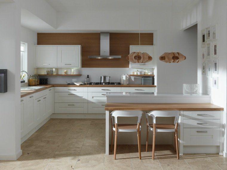 Cuisine En L Moderne Avec îlot En Photos Magnifiques Ilot - Bar avec rangement pour cuisine pour idees de deco de cuisine