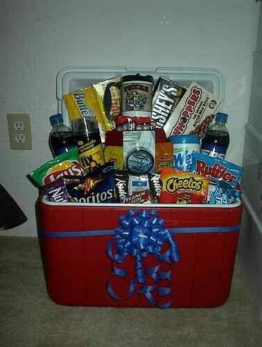 Cool Gift Basket For Men, Yeti Gift Basket, Beer Gift Baskets, Snack Gift