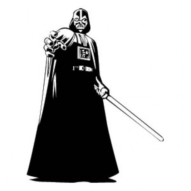 Darth Vader Full Body Stencil