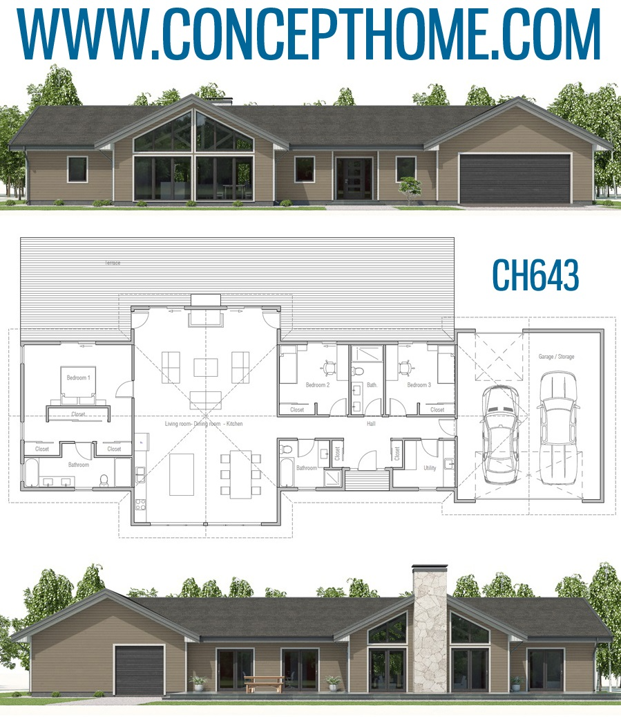 House Plan Ch643 Container House Plans Dream House Plans Contemporary House Plans