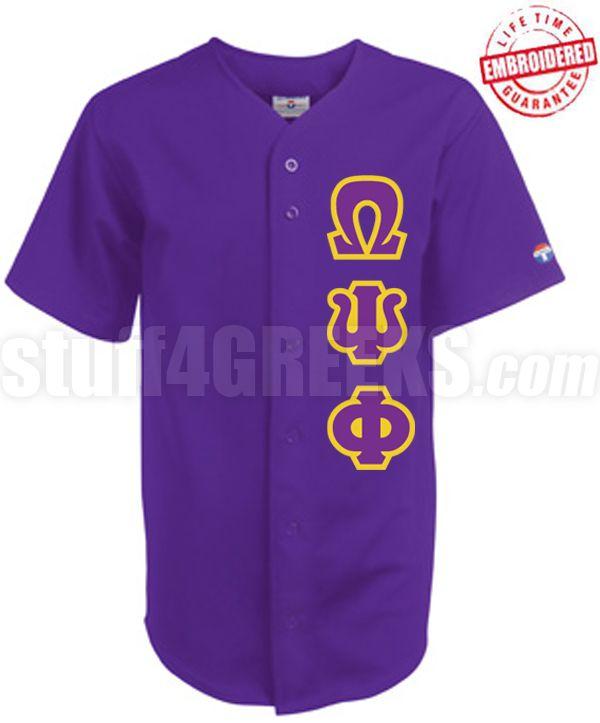 87544c749fe Omega Psi Phi Greek Letter Cloth Baseball Jersey