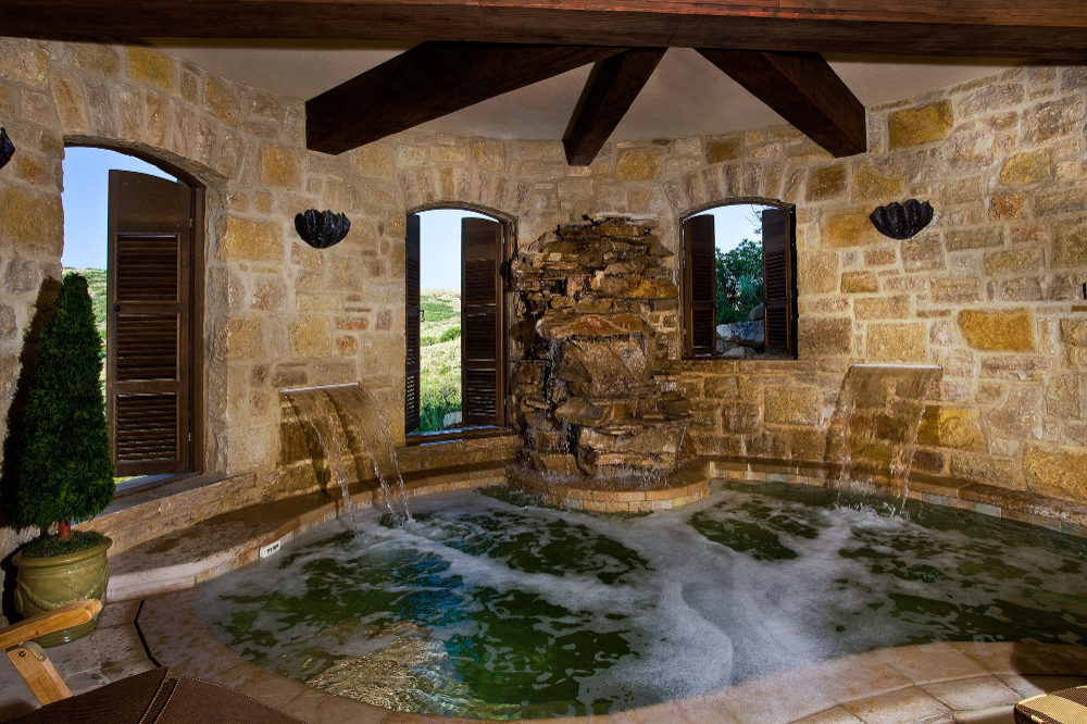 Grotto Hot Tub Incredible Tuscan Farmhouse Estate Ontario Design Company Indoor Hot Tub Hot Tub Room Tuscan Style Homes