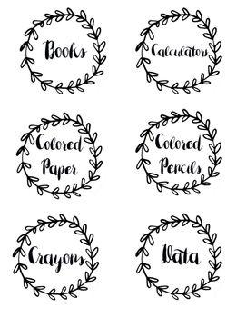 classroom labels shabby chic teaching special minds classroom rh pinterest com
