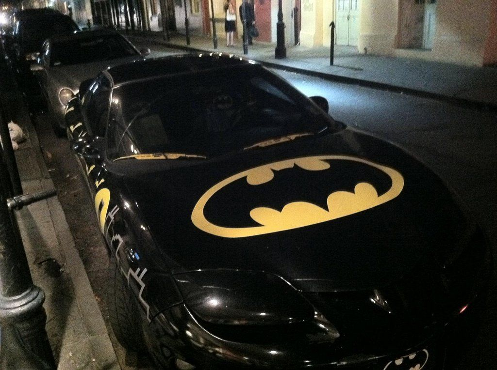 ways to decorate your car for halloween slap some batman stickers on it - Halloween Decorated Cars