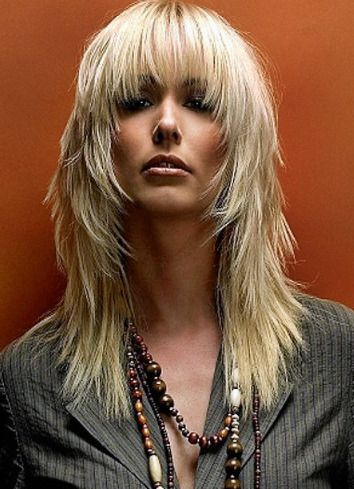 good long choppy layered hairstyles with bangs for thin