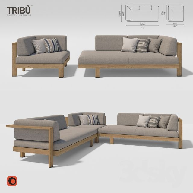 tribu pure sofa corner sofasoutdoor furnituremodels - Outdoor Mobel Set Tribu
