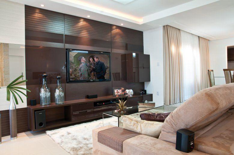 Sala De Tv Com Sofa Marrom ~ decoração sala de estar sofa marrom  Pesquisa Google  Home sweet