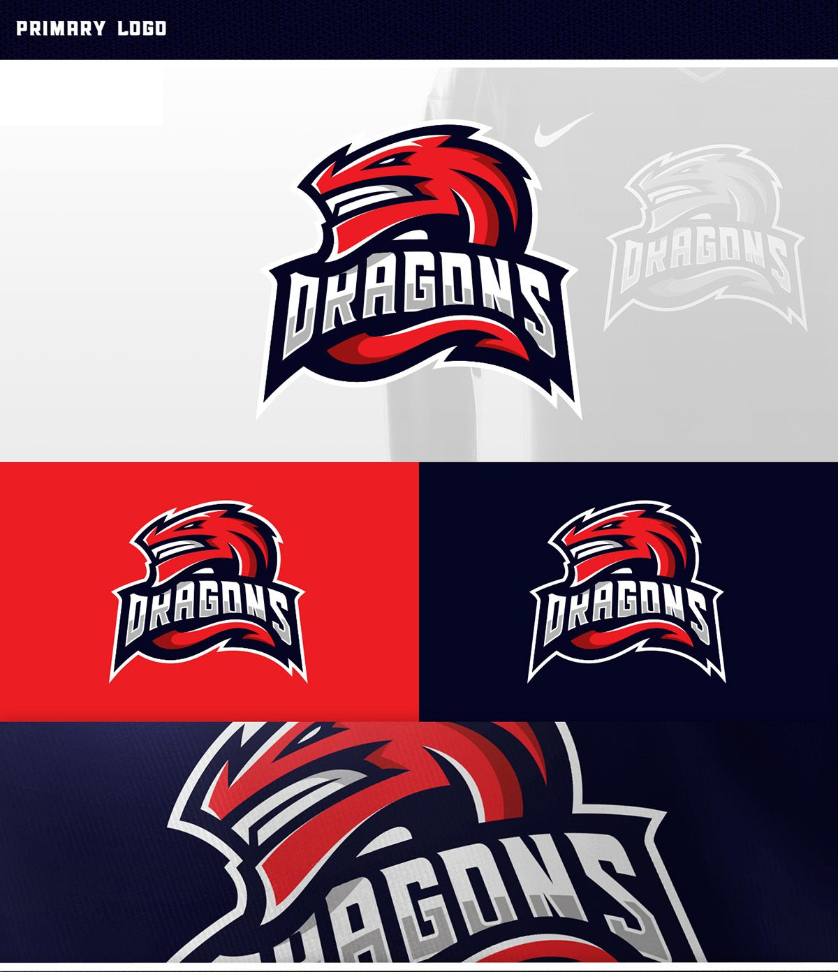 dragons sports logo concept this is another sports logo
