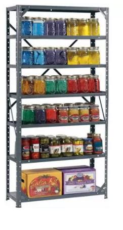 muscle rack 30w x 12 u2033d x 60 u2033h 7 shelf steel shelving 26 27 pick up rh pinterest co uk