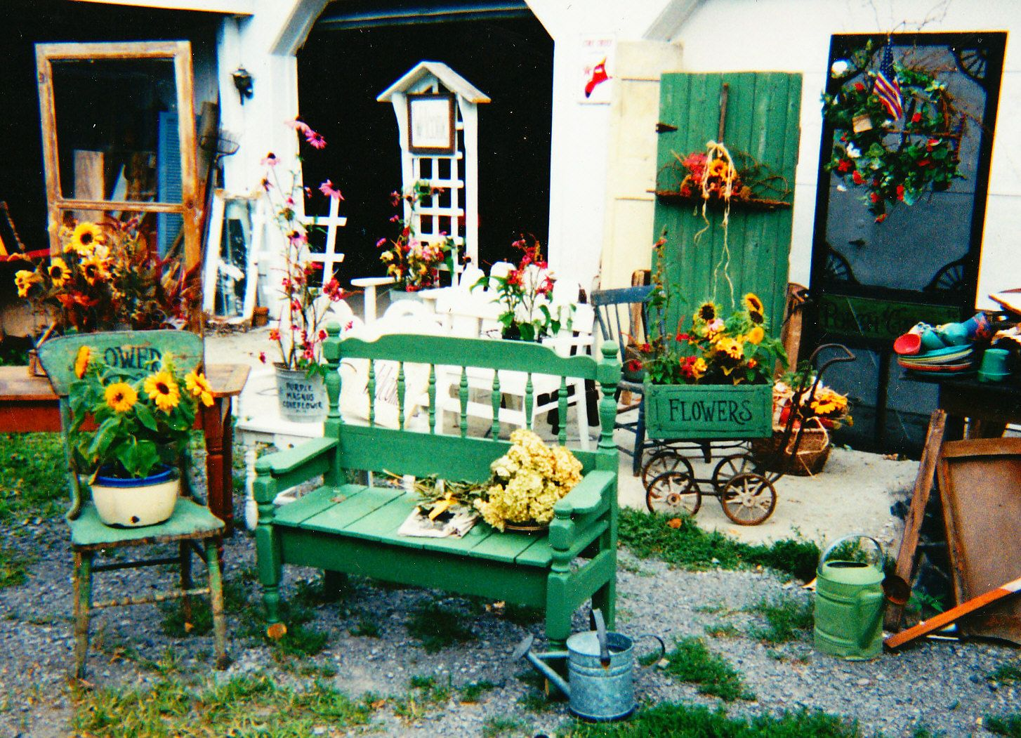 A Collection Of Repurposed Stuff For The Garden Or Porch