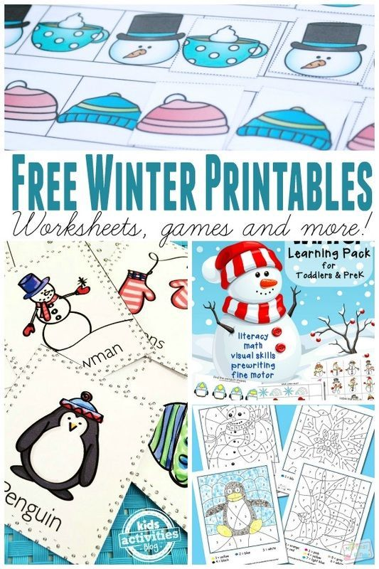Learning Free Winter Printables - From Worksheets to Games ...