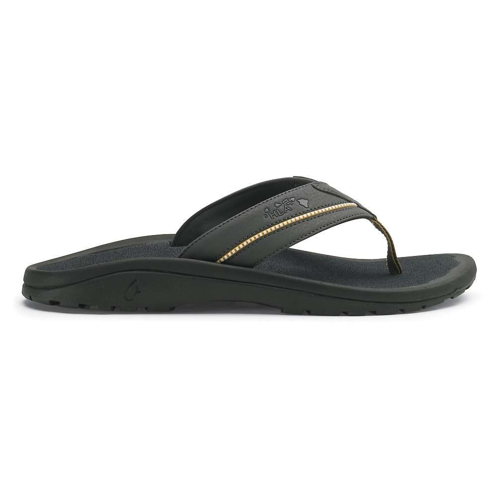 OluKai Men's Kia'i II Sandal - 9 - Dark Shadow / Dark Shadow