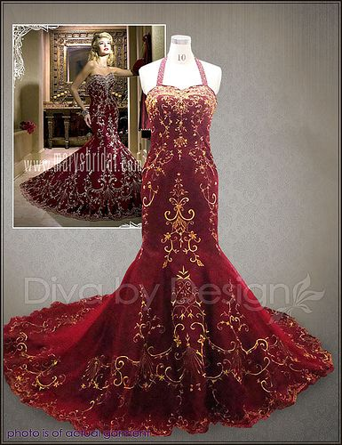 antique wedding dresses ivory gold bridal gowns red dress gown ...