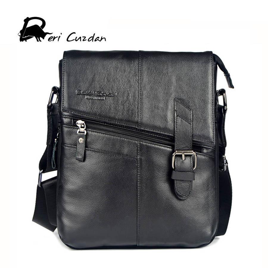 1e7c807b9e25 29.78$ Watch more here - DERI CUZDAN New Brand Genuine Leather Men Bags  Casual Briefcase Messenger Bags Quality Man Shoulder Crossbody Bag Black  Male Bag