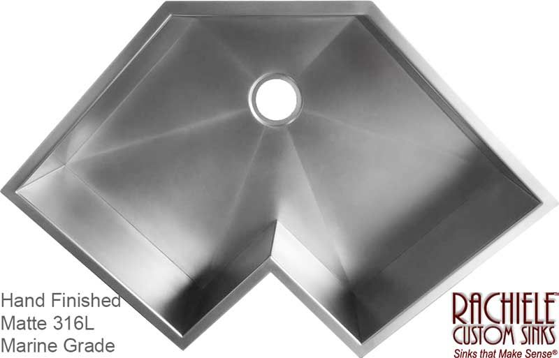 Corner Kitchen Sinks Available In Copper And Stainless Steel Single Bowl Design In 2021 Corner Kitchen Sink Corner Sink Kitchen Sinks Kitchen Stainless