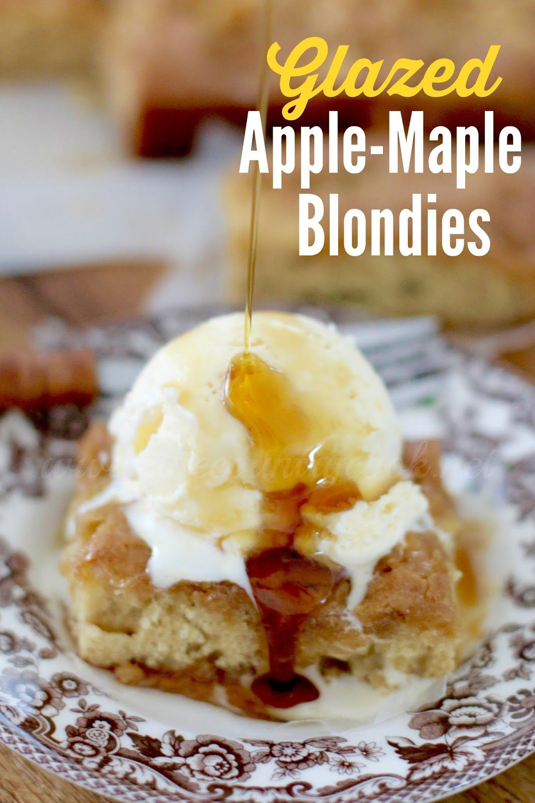 Glazed Apple-Maple Blondies - The Country Cook