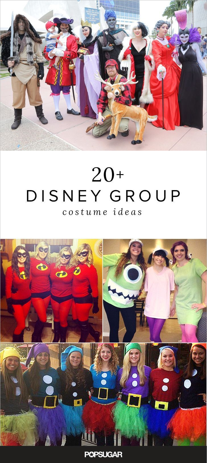 50 Group Disney Costume Ideas For You and Your Squad to Wear This Halloween