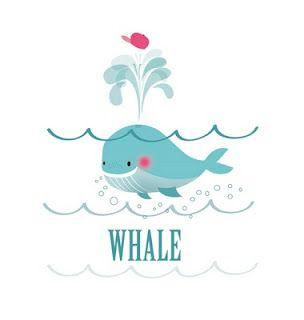 On Aime Tellement Les Baleines Quon En A Fait Un Imprimé Pour Nos