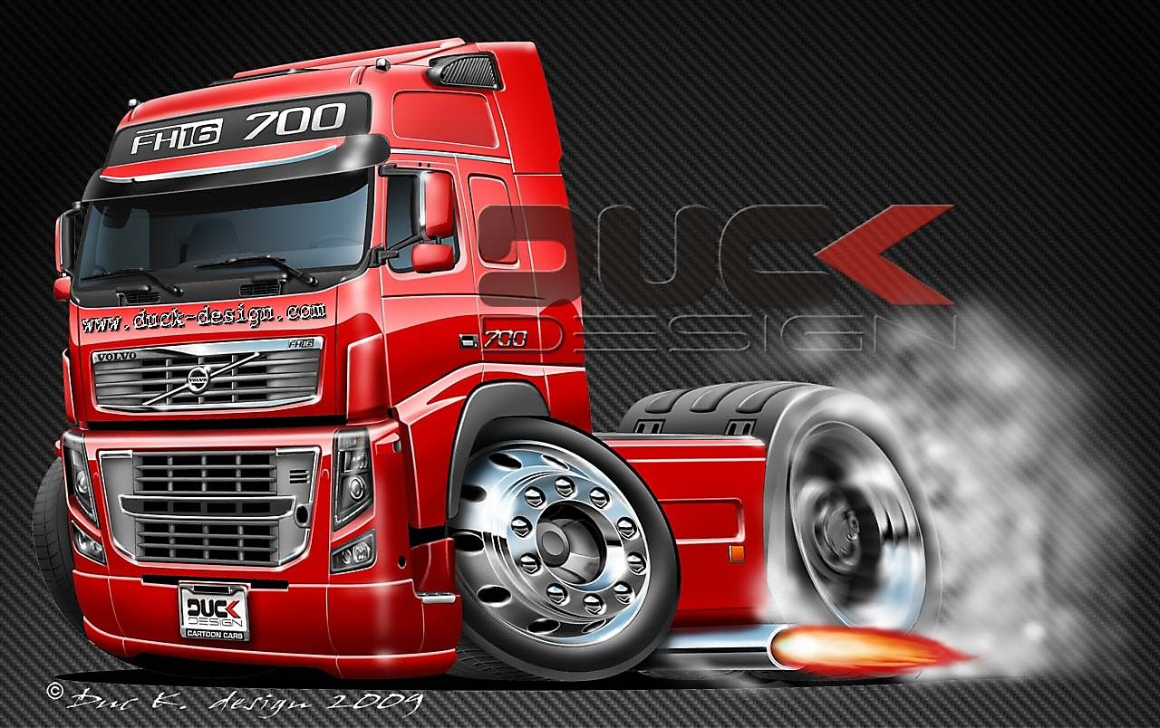 Http Www Duck Design Com Cartoon Cars Gallery Image Format Raw Type Img Id 1143 Volvo Trucks Cartoon Truck Truck Wallpaper Absolutely stunning truck wallpapers