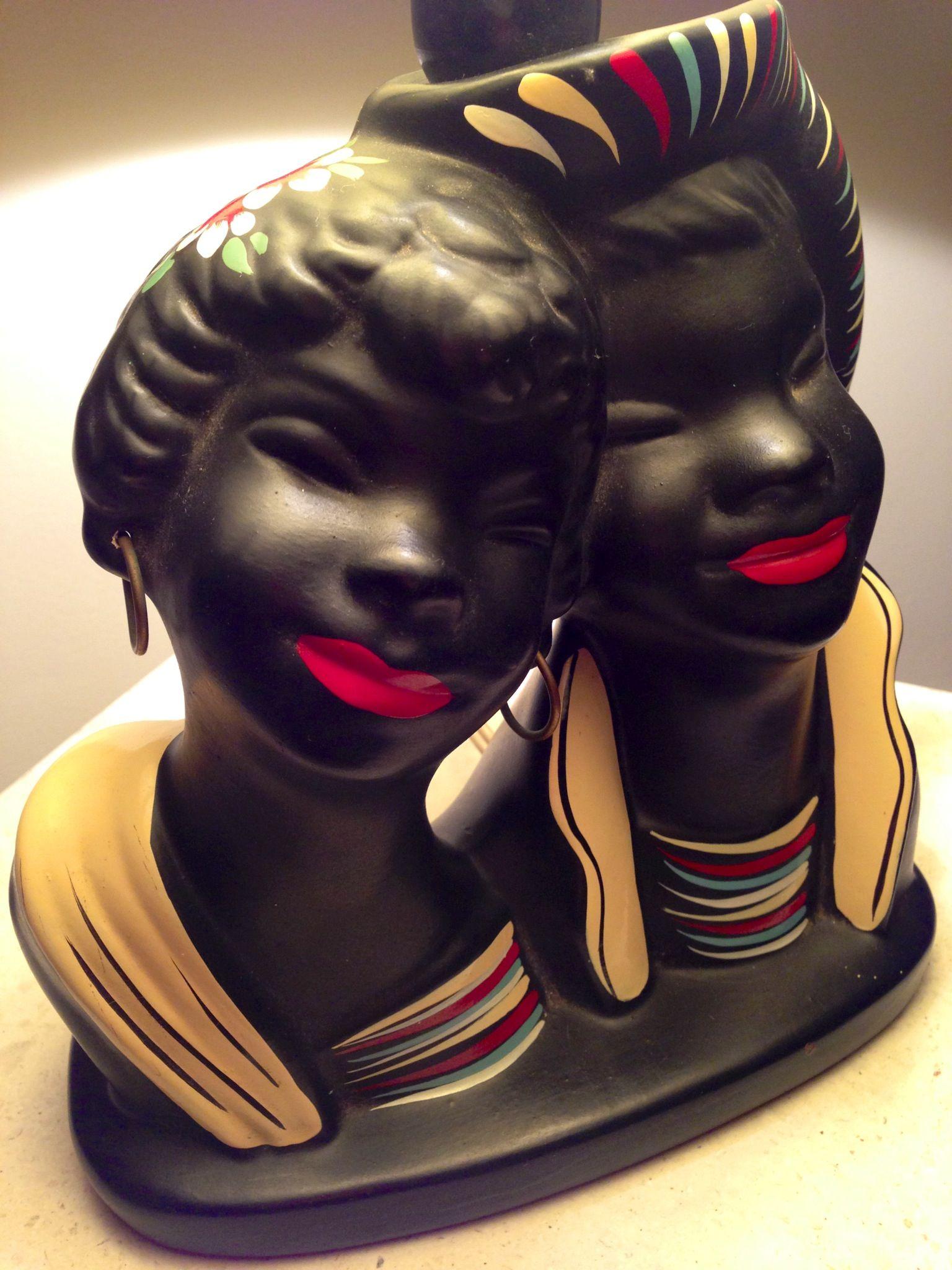 Pretty smiles Barsony TV lamp retro 1950s Black