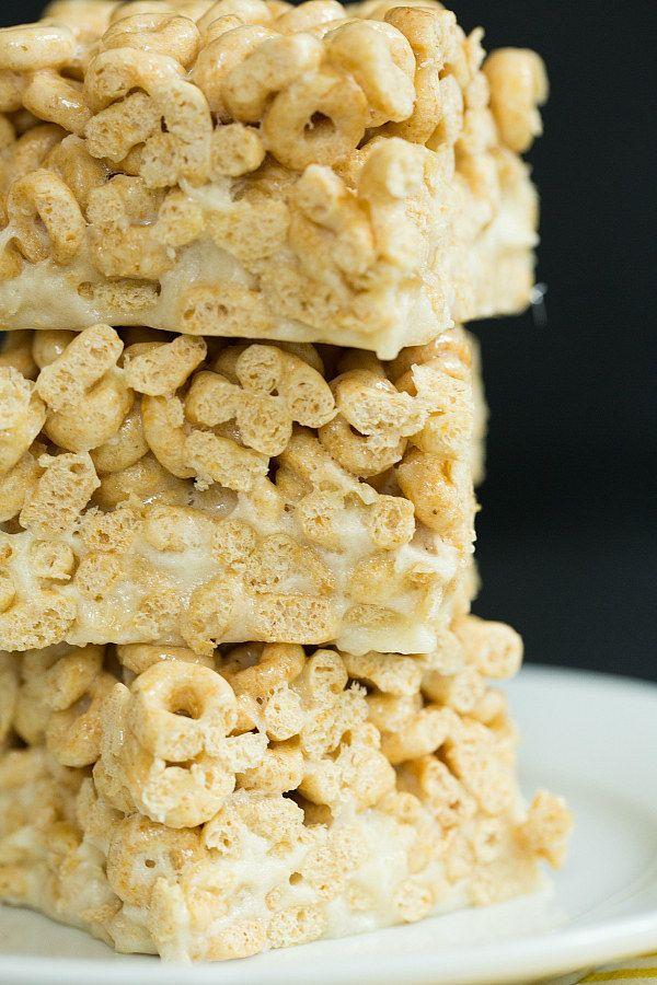 Honey Nut Cheerios And Banana Marshmallow Cereal Treats Cereal Treats Marshmallow Cereal Honey Nut Cheerios