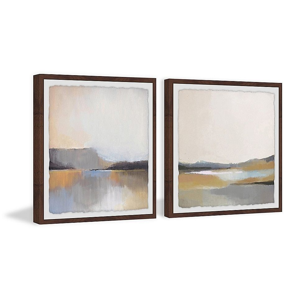 Marmont Hill Grey Dunes Framed Diptych Wall Art Bed Bath Beyond In 2020 Diptych Wall Art Diptych Large Scale Wall Art