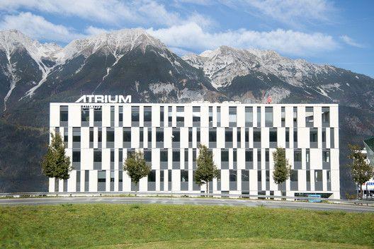 Gallery Of Atrium Amras Zechner Zechner 14 Facade Architecture Hotel Facade Building Facade