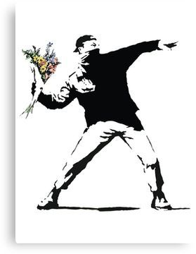 'Flower man - Street art' Canvas Print by kokinoarhithi