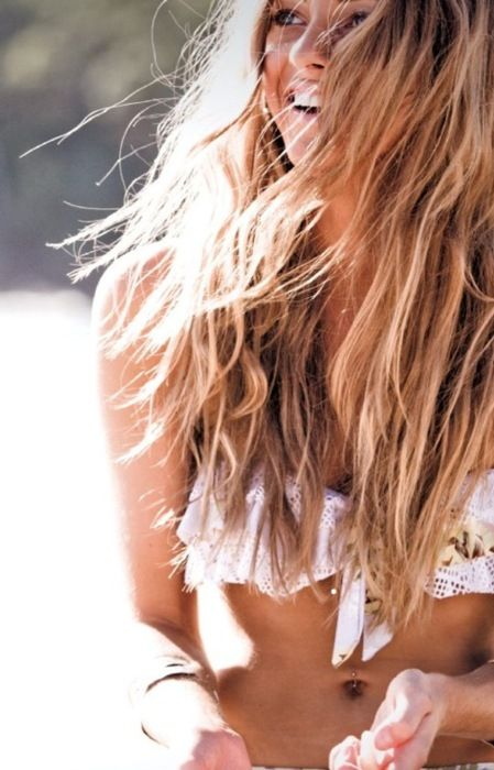 I will always love beachy waves. Carefree and easy.