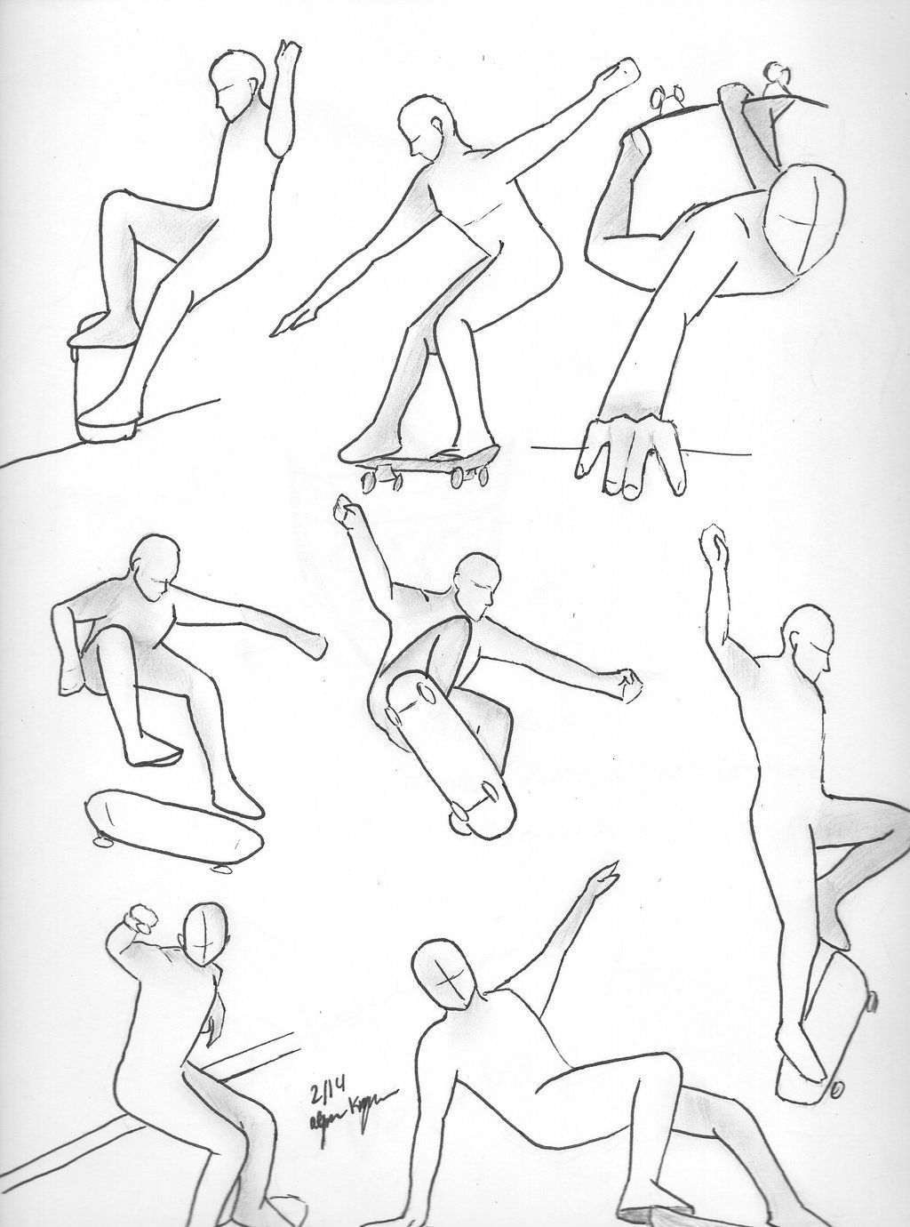 Skateboard Poses Buscar Con Google Body Drawing Tutorial Skate Art Art