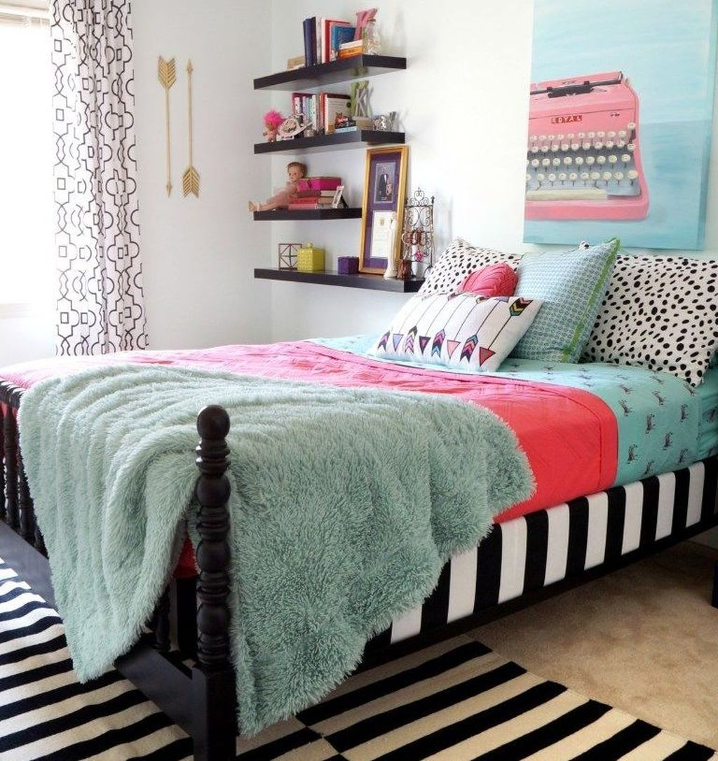 48 cheap teen girls bedroom ideas with simple interior rh pinterest com