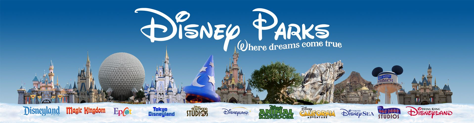 All the Disney Parks Banner- Click to enlarge | Disney parks ...