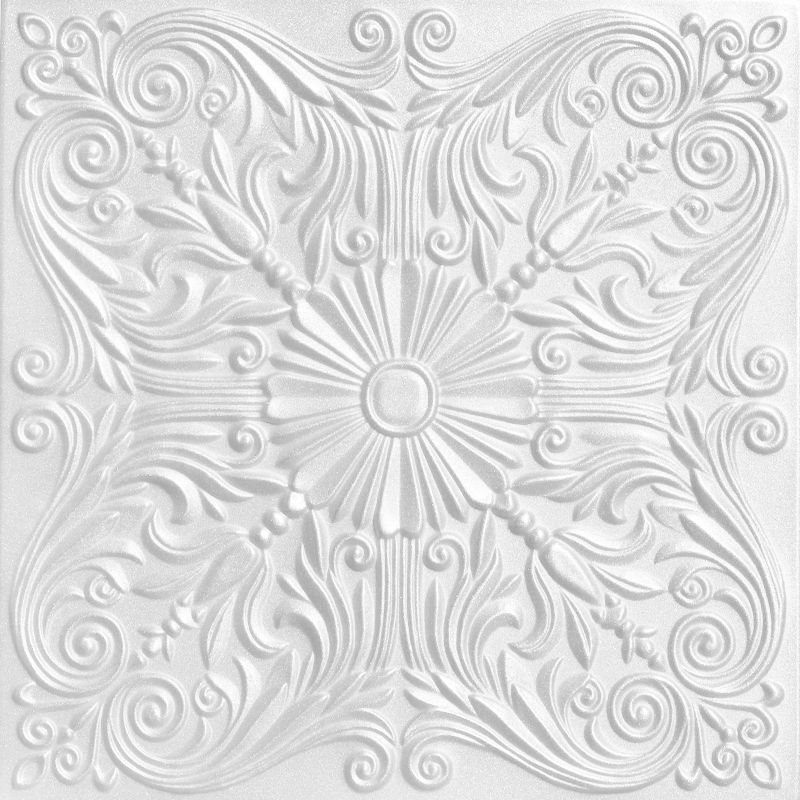 "Decorative Tin Tiles Extraordinary Spanish Silver  Styrofoam Ceiling Tile  20""x20""  #r139 Inspiration"