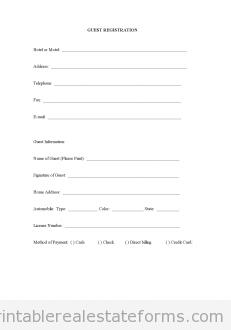 Guest Registration | Real Estate | Pinterest | Registration form ...
