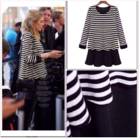 ❗️LAST❗️• Striped Loose Layered Tunic Top One of my best sellers! Brand new. Comes in sizes S M L XL. Cotton. Perfect for the fall! ONLY XXS/XSLEFT. FINAL PRICE NO MORE DOSCOUNT Tops Tunics