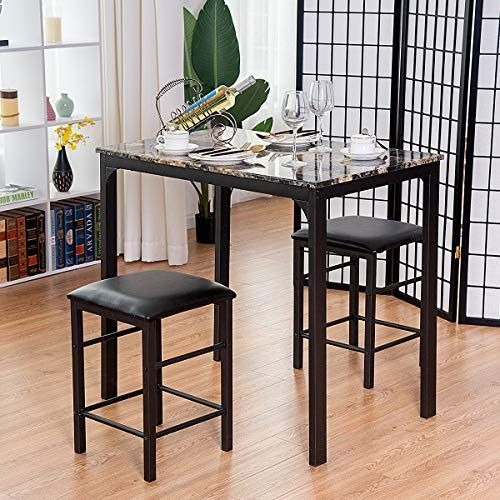 kchex u003e u003e u003e3 pcs counter height dining set faux marble table 2 chairs rh pinterest com