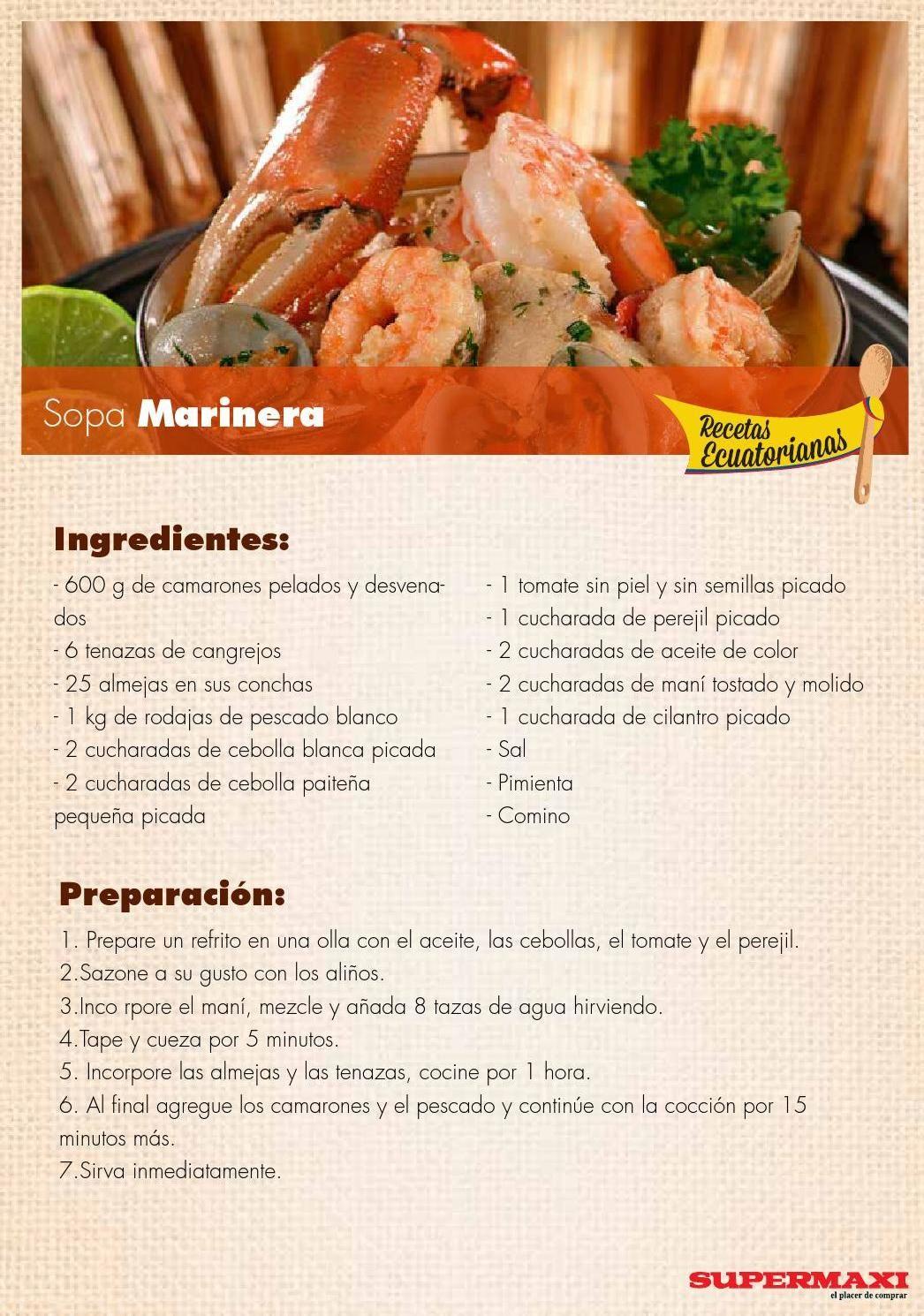Recetas ecuatorianas recetas ecuatorianas recetas y comida for Ingredientes para comida