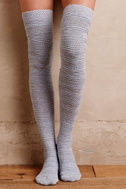 Fairisle Over-The-Knee Socks #AnthroFave | gems | Pinterest | Knee ...