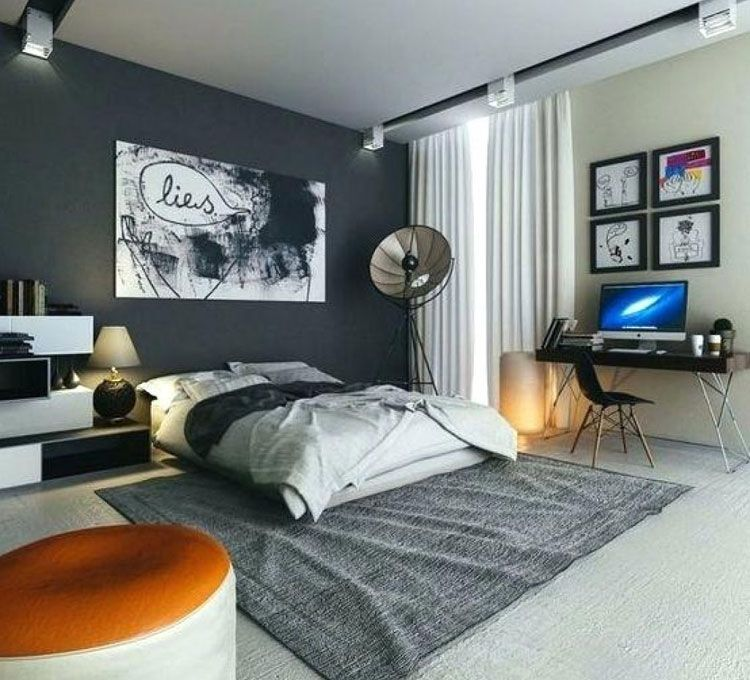 Young Men S Bedroom With Awesome Colors And Unique Room Decor Best Men S Bedroom Ideas Cool Masculine Mens Room Decor Redecorate Bedroom Mens Bedroom Decor