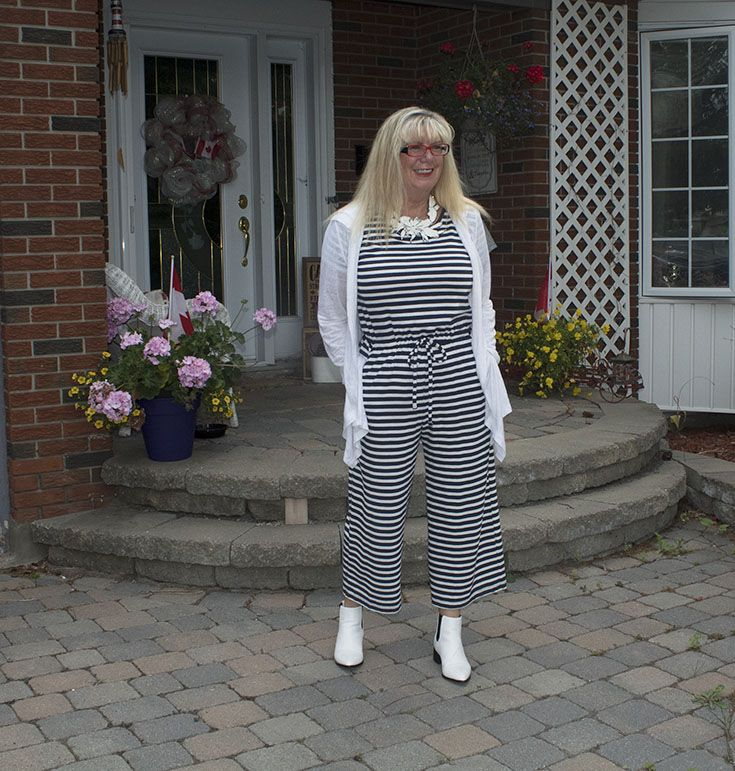 Old Navy Stripe Jumpsuit Fashion Over 50 Style For The Ages