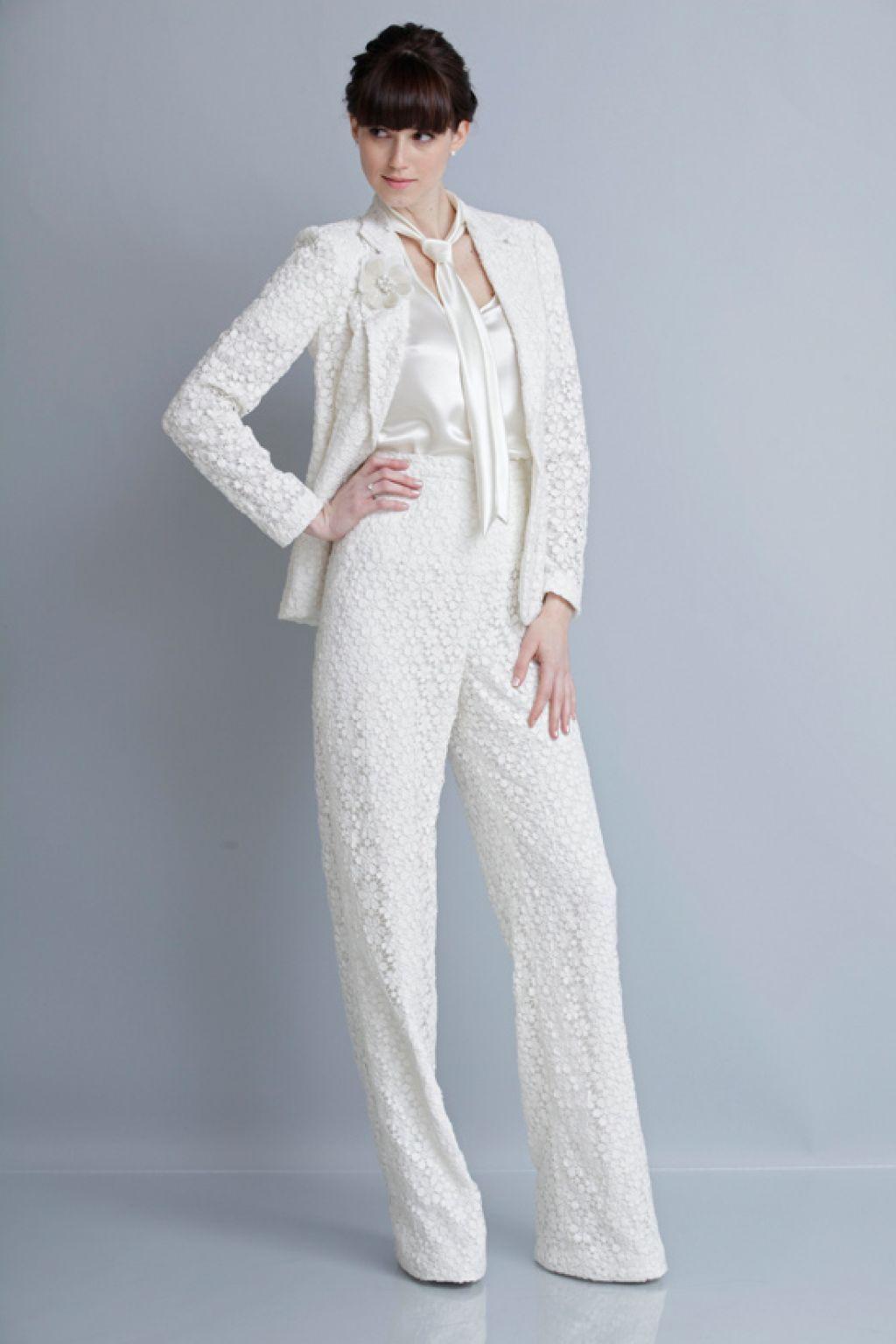 Theia Spring 2013 Bridal Pant Suit | My wedding | Pinterest | Spring ...