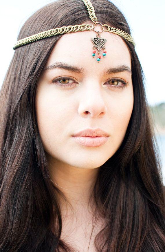 boho headchain bandeau turquoise bandeau hippie jewelry pinterest accessoires cheveux. Black Bedroom Furniture Sets. Home Design Ideas