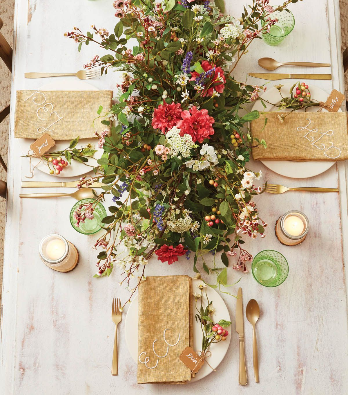 craft ideas homemade bridal shower decoration%0A Spring Floral Tablescape   Spring Inspiration with JoAnn   Pinterest    Floral and Spring