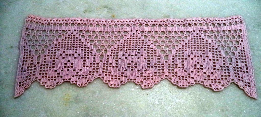 Barrado Em Croche Rosa Claro Barrados De Croche Bicos De Croche