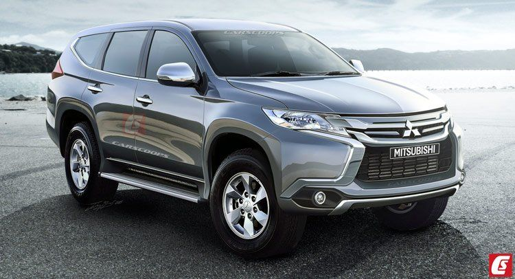 All New 2016 Mitsubishi Pajero Sport Rendered India Launch Likely In 2017 Pajero Pajero Sport Carros