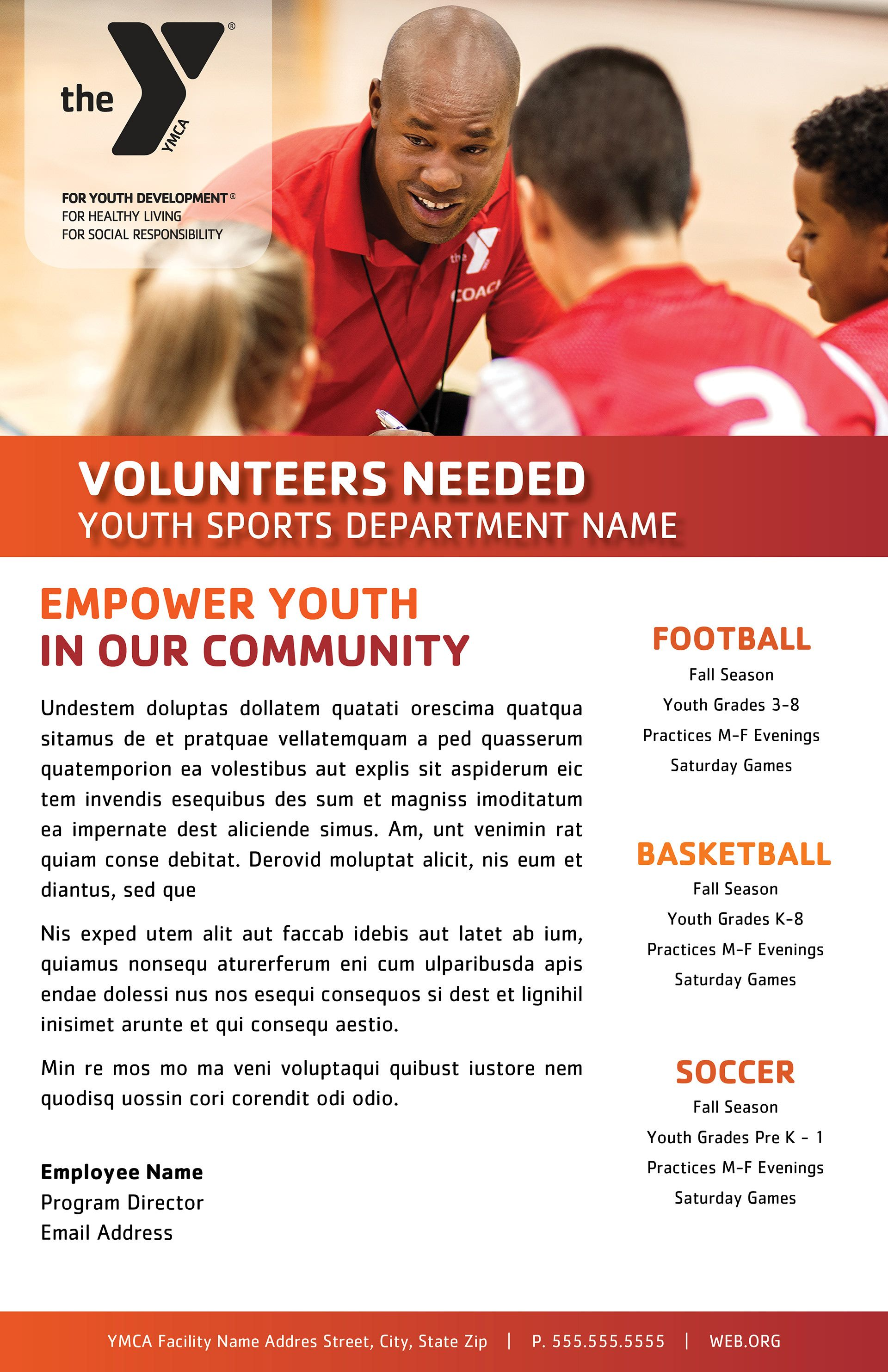Layout Concept The Ymca Is A Volunteer Based Organization And Facilities Are Always Looking For Youth Sports Coaches Coaching Youth Sports Ymca Youth Sports