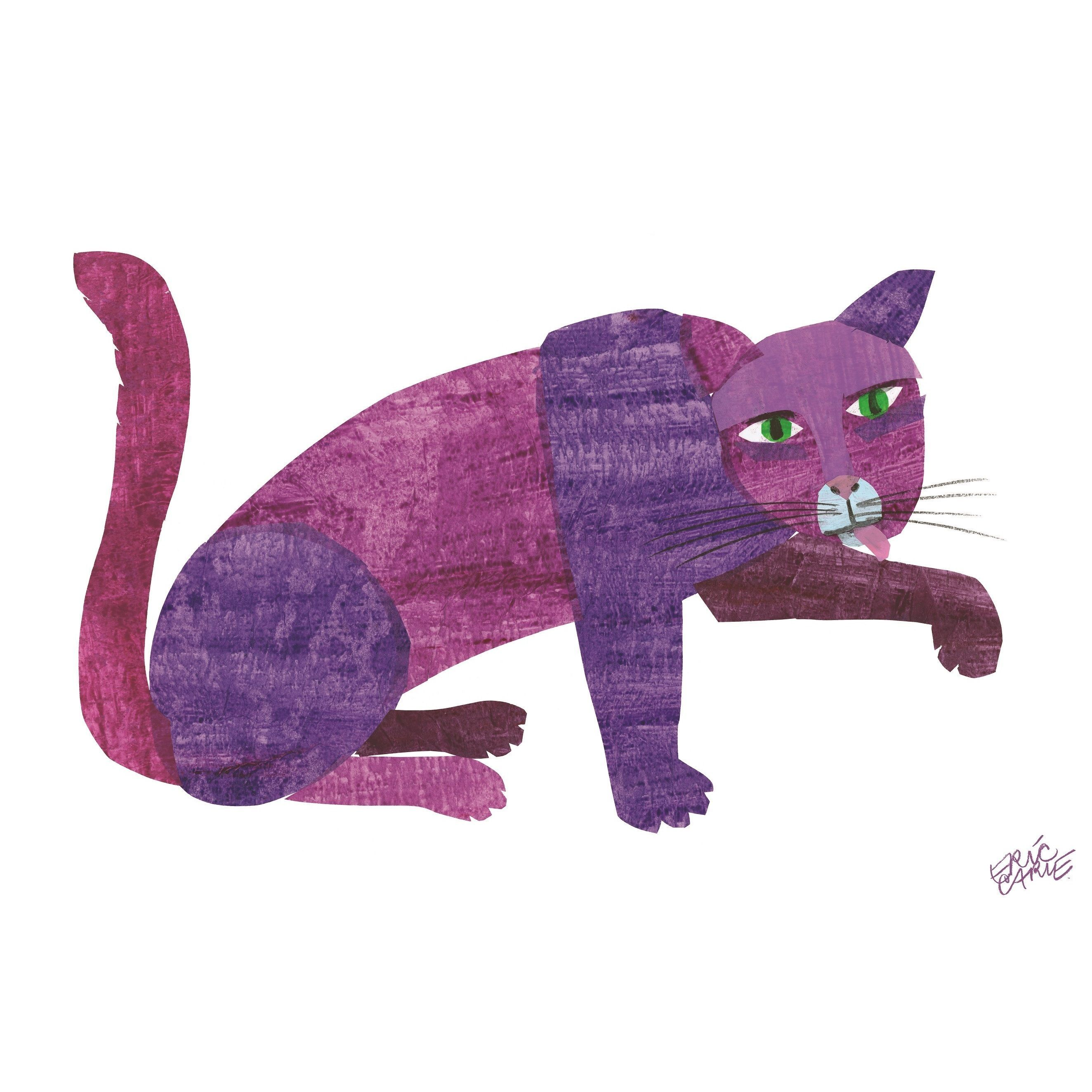 Brown Bear Purple Cat Framed Character Art By Eric Carle