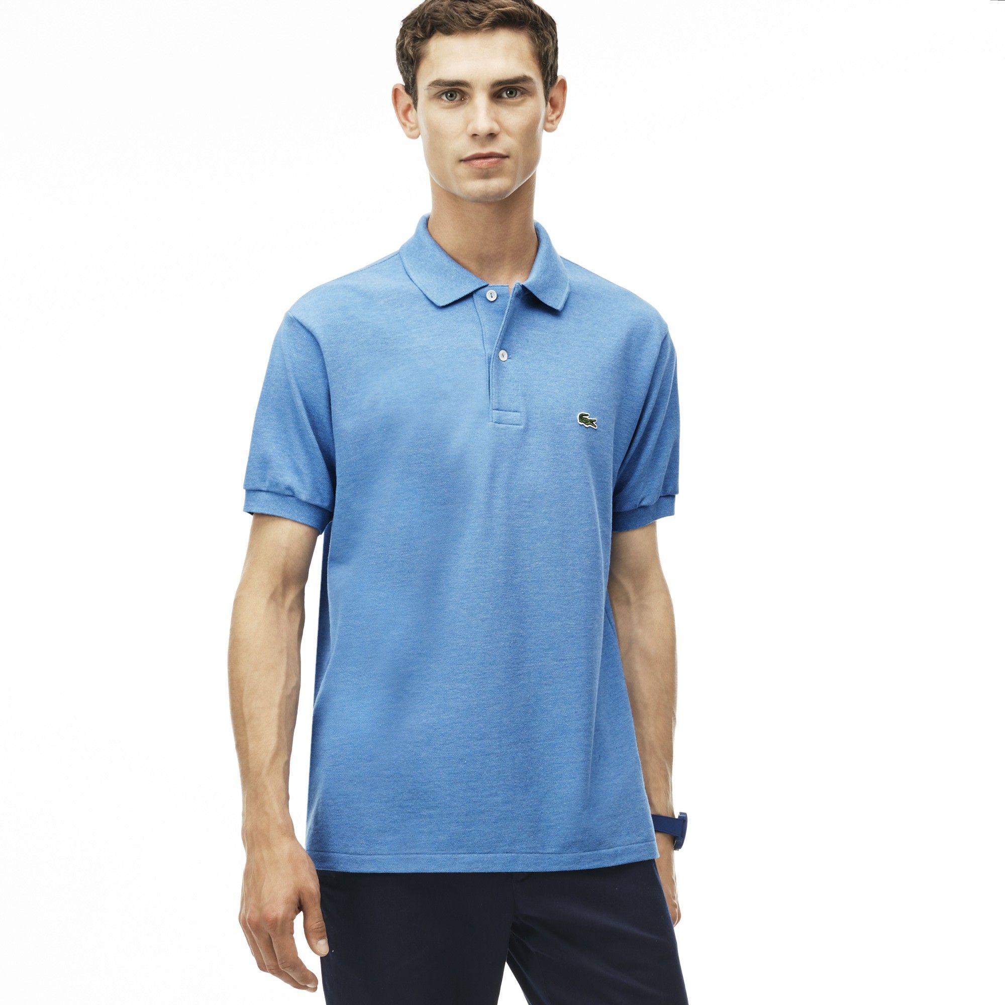 24fb958a LACOSTE Men's Classic L.12.12 Chine Piqué Polo Shirt - horizon blue ...